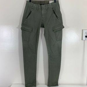Rag and Bone Bowery Distressed Army Zipper Pants